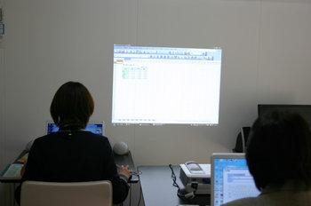 エクセル授業の写真